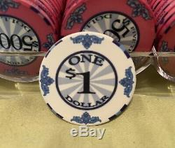 1,000 Scroll Poker Chips. USED ONCE. YES, ONCE