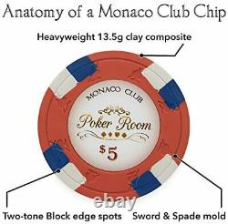 1,000ct. Monaco Club 13.5g Poker Chip Set in Acrylic Carry Case