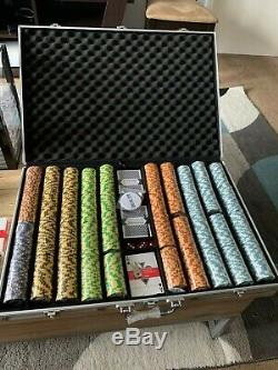 1,000ct. Monte Carlo 14g Poker Chip Set in Aluminum Metal Carry Case and more