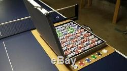 1,000ct. Rare Landmark Casino 11.5g Poker Chip Set in Aluminum Metal Carry Case