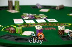 1,000ct. Rock & Roll Clay Composite 13.5g Poker Chip Set in Acrylic Case