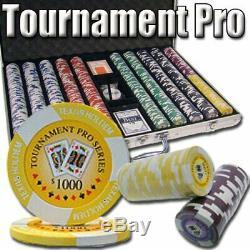 1,000ct. Tournament Pro 11.5g Poker Chip Set in Aluminum Metal Carry Case