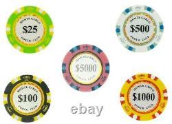 10 PLAYER TOURNAMENT SET Monte Carlo Smooth Poker Chips 14 Gram Bulk NEW