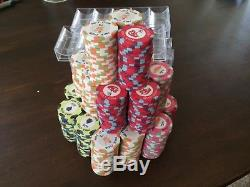 10 gram Nile club ceramic poker chip set, ideal for lower stakes home cash games