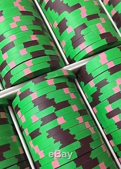 100 Horseshoe Cincinnati Casino Chips PAULSON Clay TOP HAT CANE Heads Up Set