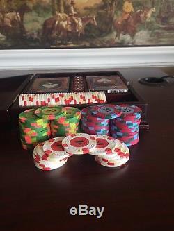 100 Paulson Top Hat & Cane poker chip set