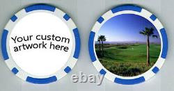 100 Photo quality promotional inlay custom poker laminated chips