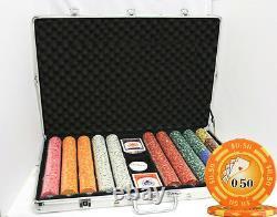 1000 14G YIN YANG CASINO CLAY POKER CHIPS SET NEW by MRC