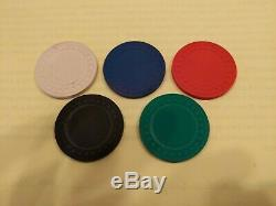1000 8g Clay Poker Chips Set with Padded Metal Case 19x 15' 5 colors