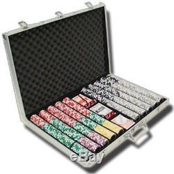 1000 Count Ben Franklin 14 Gram Poker Chips Chip Set in Aluminum Case