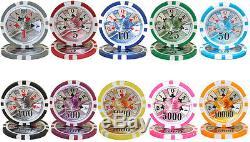 1000 Count Black Diamond 14 Gram Poker Chips Chip Set in Aluminum Case