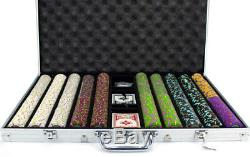 1000 Count Claysmith'The Mint' Poker Chips Set in Aluminum Case