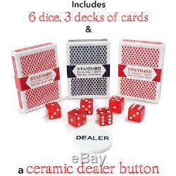 1000-Count Poker Chip Set withCarrying Case, Cards, DiceShowdownCasino Grade