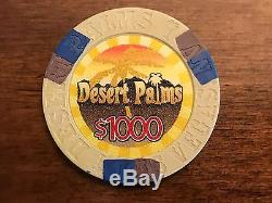 1000 DESERT PALM CHINA CLAY TOURNAMENT POKER CHIP SET DENOMINATION (not Paulson)