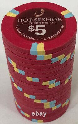1000 Horseshoe Casino Paulson Poker Chips Set