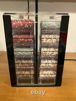 1000 Milano 10g Clay Poker Chips Set with Acrylic Case And Racks