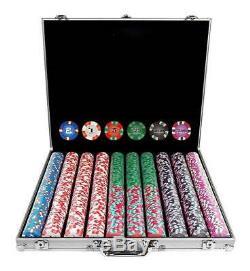 1000 NexGen Pro Classic Style Poker Chip Set w Aluminum Case ID 19147