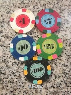 1000 PC Paulson Classic Dream Poker Chip Set Minty Rare! 3 Days Only