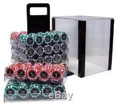 1000 Piece Eclipse 14 Gram Clay Poker Chip Set with Acrylic Case (Custom) New