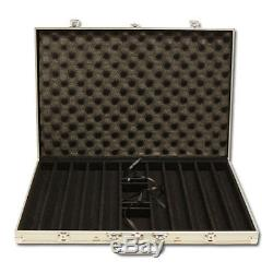1000 Piece Milano 10 Gram Clay Poker Chip Set with Aluminum Case (Custom) New