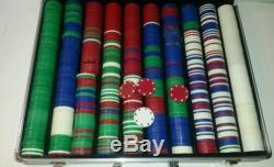 1000 Piece Poker Chip set with Aluminum Carrying Case Cards Texas Holdem Chips