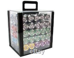 1000 Piece Tournament Pro 11.5 Gram Clay Poker Chip Set with Acrylic Case (Custom)