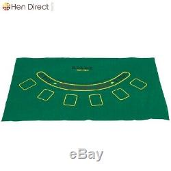 1000 Poker Chips Casino Set with6 Dices+3 Card Decks+Aluminum Case and Table Cloth