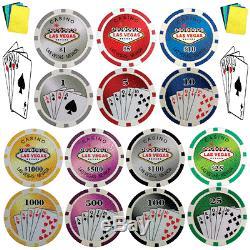1000 Poker Chips Pro Tournament Poker Chip Set 11.5 Gram Poker Chips With Bonus
