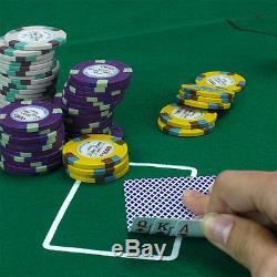 1000-ct Claysmith Gaming Monaco Club Poker Chip Set 13.5 Gram Casino Grade +Case