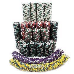 1000ct Showdown Poker Chip Set in Aluminum Case 13.5-gram Heavyweight Clay Co