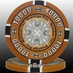 1000pc 14G PRESTIGE PRO CLAY PRINTING POKER CHIPS SET ACRYLIC CASE