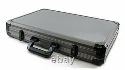 1000pc Deluxe Poker Chip Case in Gray Color Reinforced, Strong, Sturdy Design