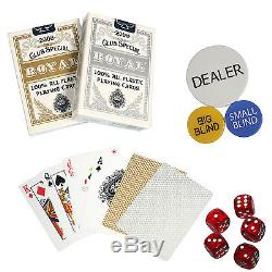 1000pc National Poker Series Clay Poker Chip Set with Aluminum Case+Digital Timer