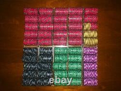 1000pcs vintage Martini Club ceramic poker chips set with acrylic case and racks