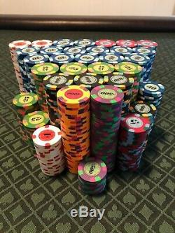 1235 Paulson top hat and cane poker chips (I will break the set up)