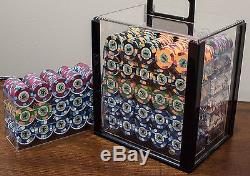 (1300) Like NEW Paulson Casino de Isthmus City Poker Chips Cash/Tournament Set