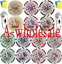 1500 Poker chips & Accessories Pro Tournament Chip Set Standard 11.5 Gram Weight