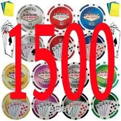 1500 Royal Flush Las Vegas Style Tournament Poker Chips