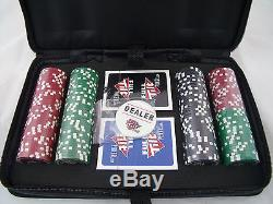 152 Piece Poker Chip Set with Travel Case 2 Packs of Cards by Full Tilt New Sealed