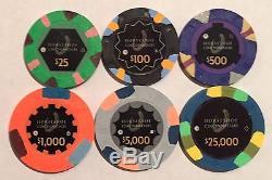 16 Horseshoe Cincinnati Casino Chips PAULSON Clay TOP HAT CANE Sample Set