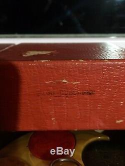 2 Rare Bakelite Poker Caddy Gambling Casino Chips Set Original Box $200 Dubonnet