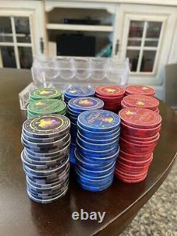 200 CHIPCO VINEYARD CASINO NCV Chips Set of Red, Blue, Green & Black