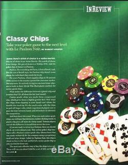 200 Le Paulson NOIR Poker Chip Set with Revolving Carousel & Cards RARE