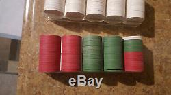 200 PAULSON TOP HAT AND CANE FUN NITE POKER CHIPS SET + 20 Bursts