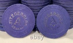 200 Paulson Roulette Clay Casino Chips. Fitzgeralds Reno Nevada. Poker