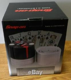 2004 Snap-On Die cast poker chip playing card set new in original box SSX2535