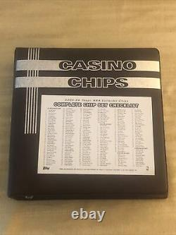 2005-06 Topps NBA Collector Chips Complete 200 Chip Set WithBinder RARE
