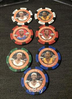 2005-06 Topps NBA Poker 200 Chip Set Complete Kobe Bryant Lebron Rare Basketball