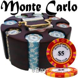 200ct Carousel Monte Carlo Casino Poker Chip Set