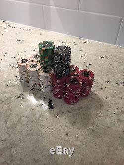 240 Authentic Paulson Clay Poker Chip Mini Set Cleveland OH Casino